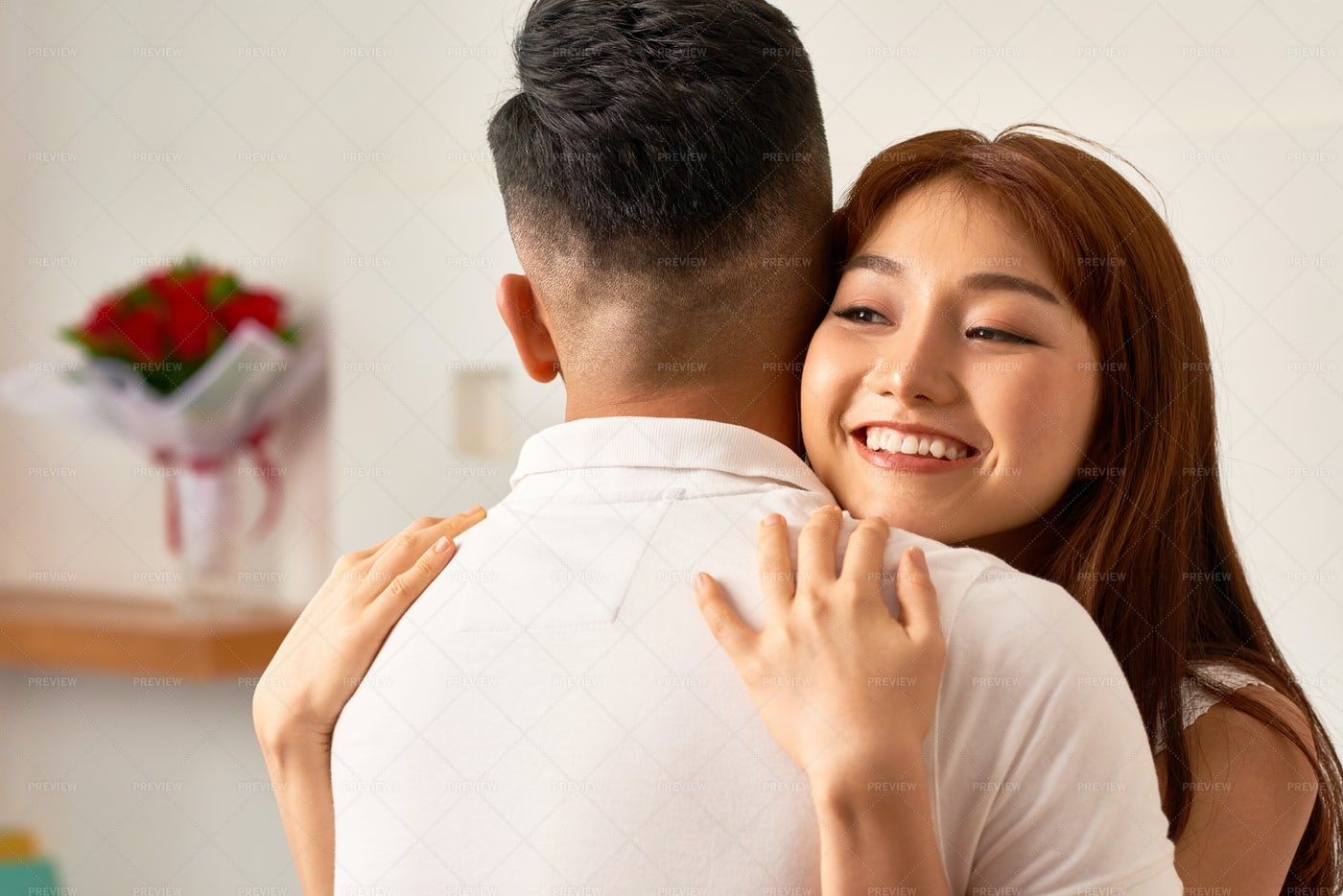 Young Couple Hugging Each Other: Stock Photos