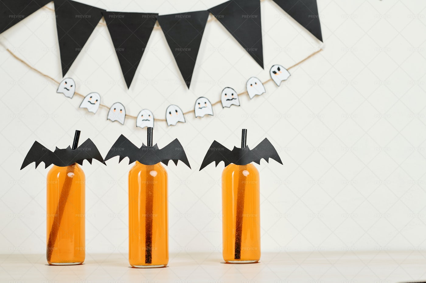 Drinks At Halloween Party: Stock Photos