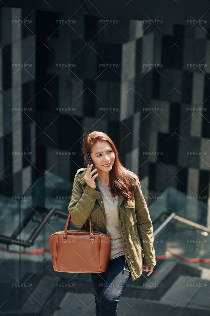 Woman Calling On Phone: Stock Photos