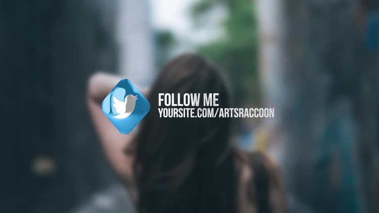 Glass Social Links: After Effects Templates