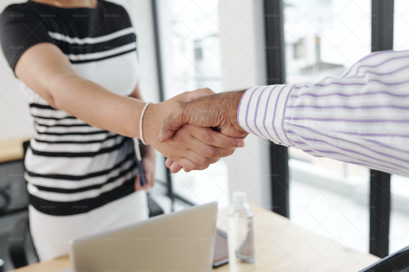 Business People Shaking Hands At Office: Stock Photos