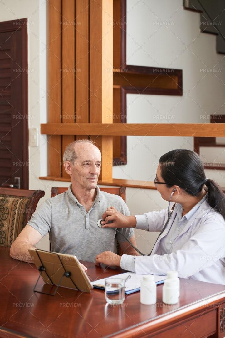 Checking Heartbeat: Stock Photos
