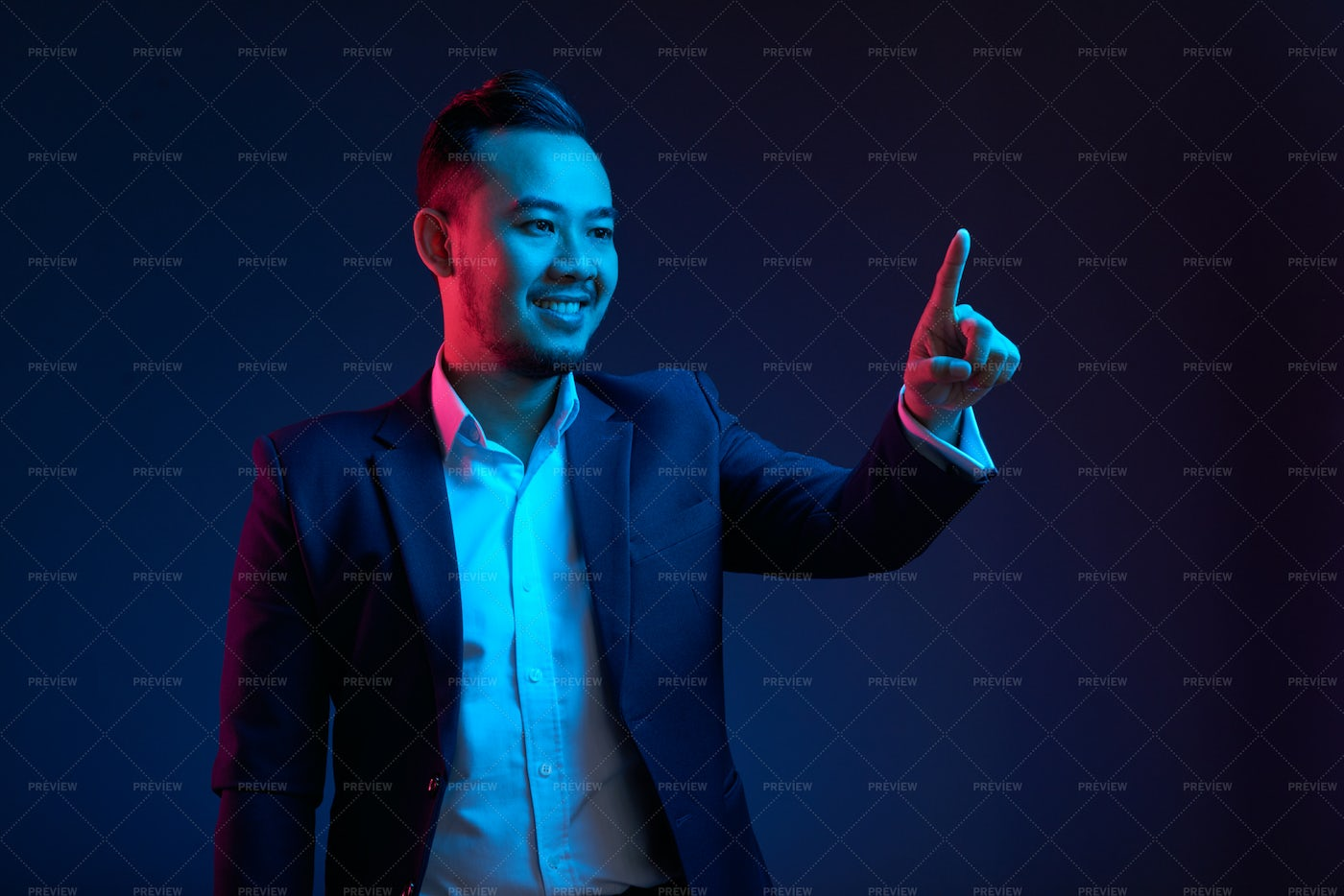 Businessman Using Innovative Invisible: Stock Photos