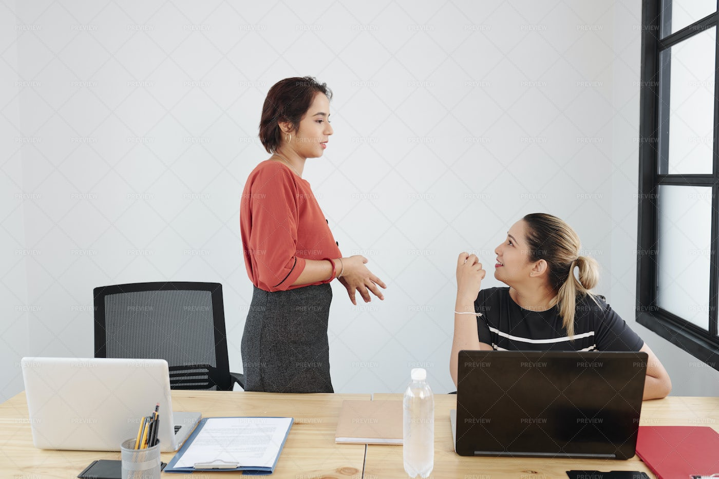 Office Workers Working At Office: Stock Photos