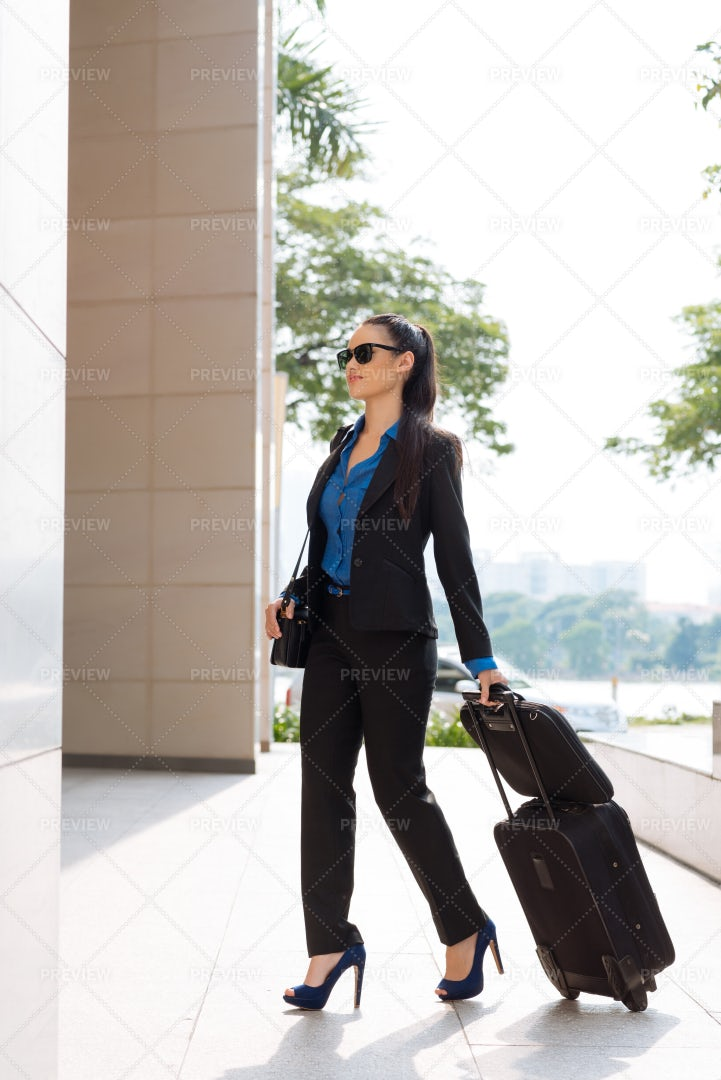 Businesswoman At Train Station: Stock Photos