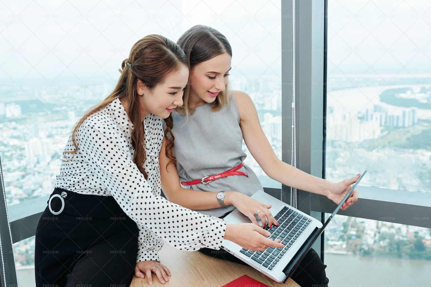 Female Entrepreneurs Watching: Stock Photos