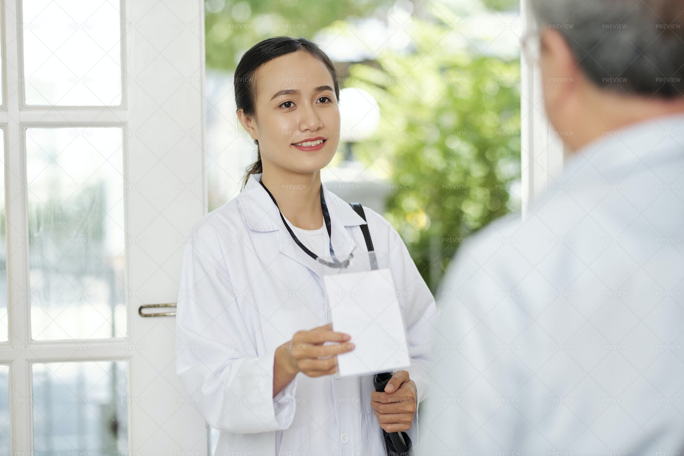 Visit Of The Doctor To Home: Stock Photos