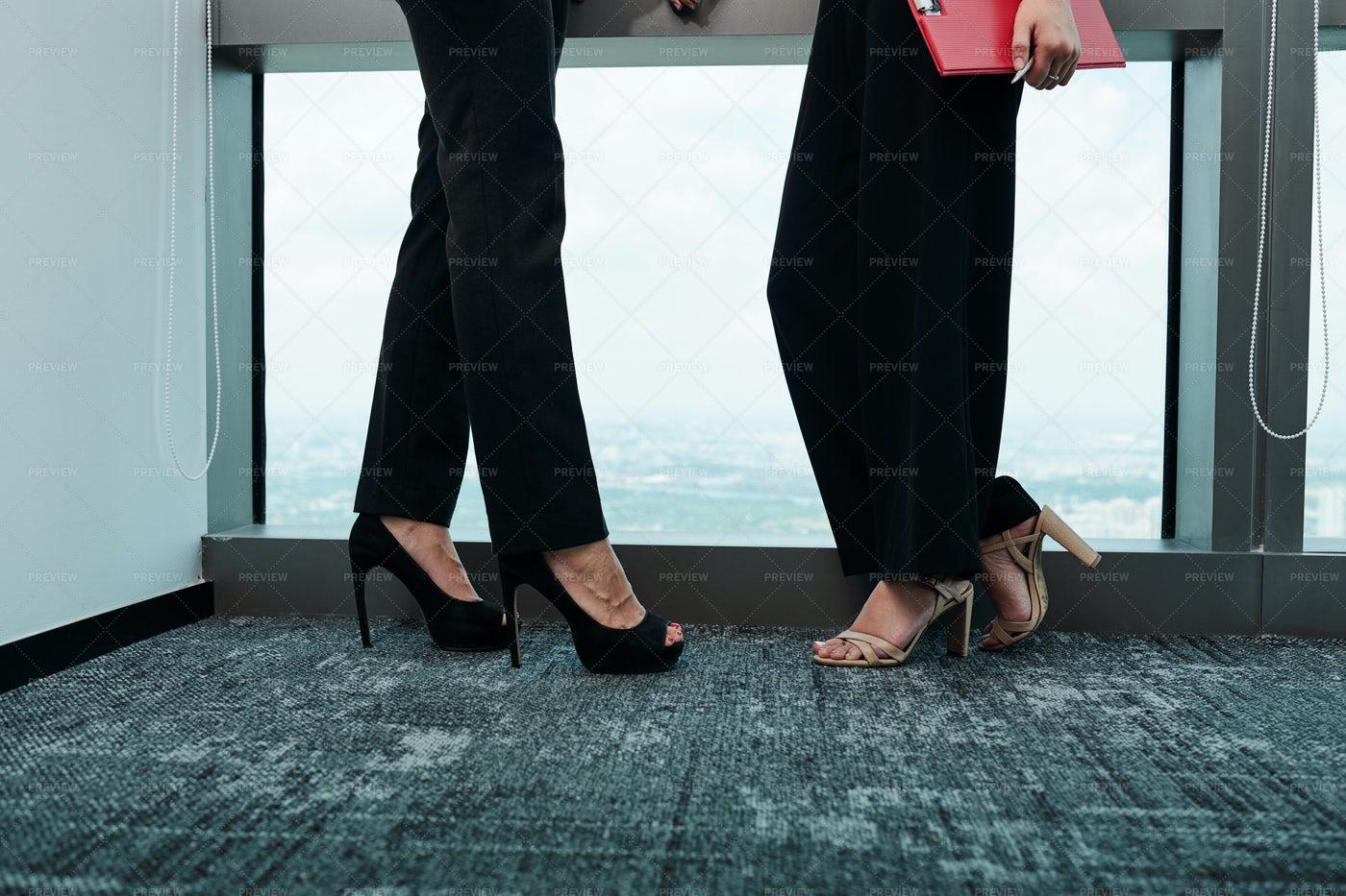 Legs Of Elegant Businesswomen: Stock Photos