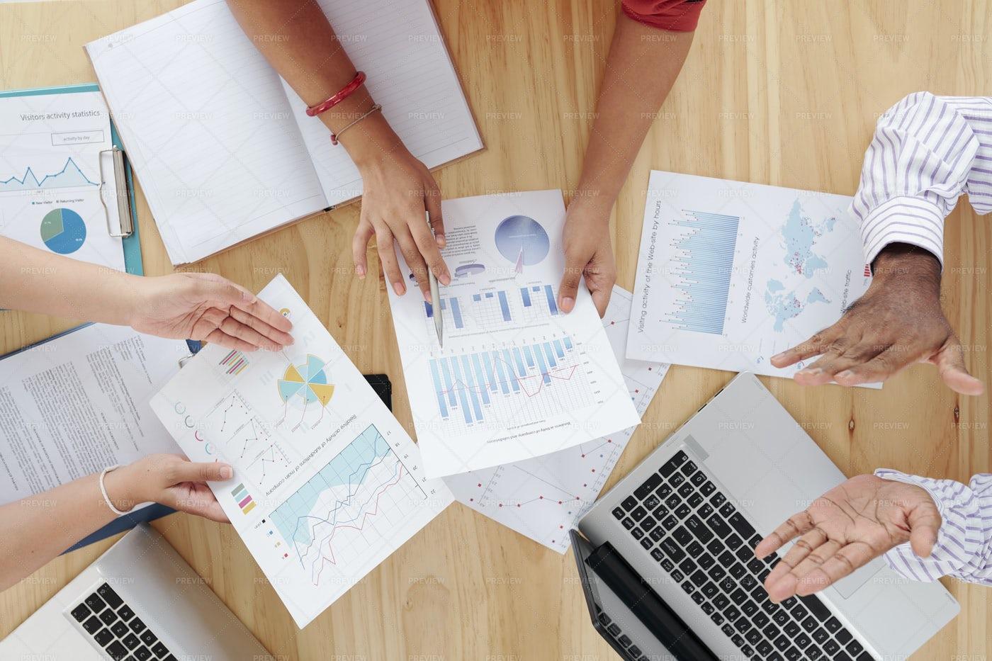 Teamwork At Business Meeting: Stock Photos