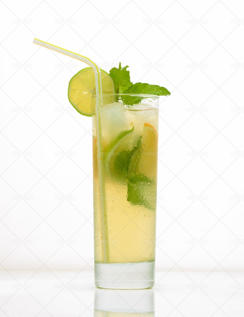 Fruit Drinks In A Glass: Stock Photos