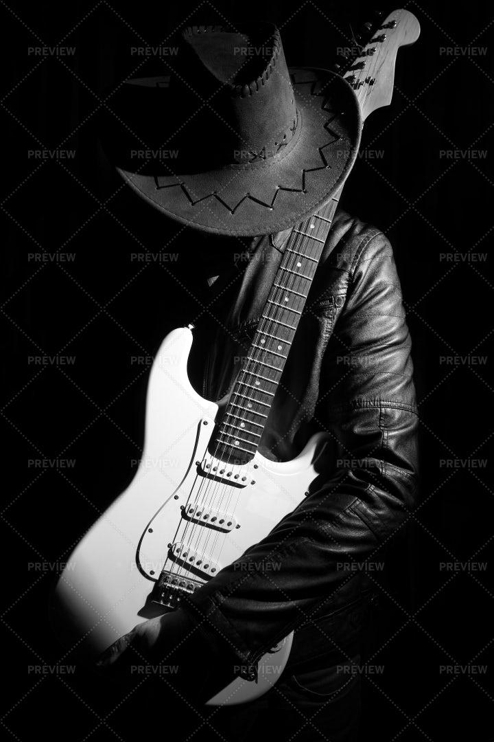 Guitarist Portrait: Stock Photos