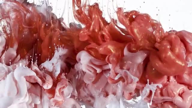 Red Gold and White Ink Mix: Stock Video