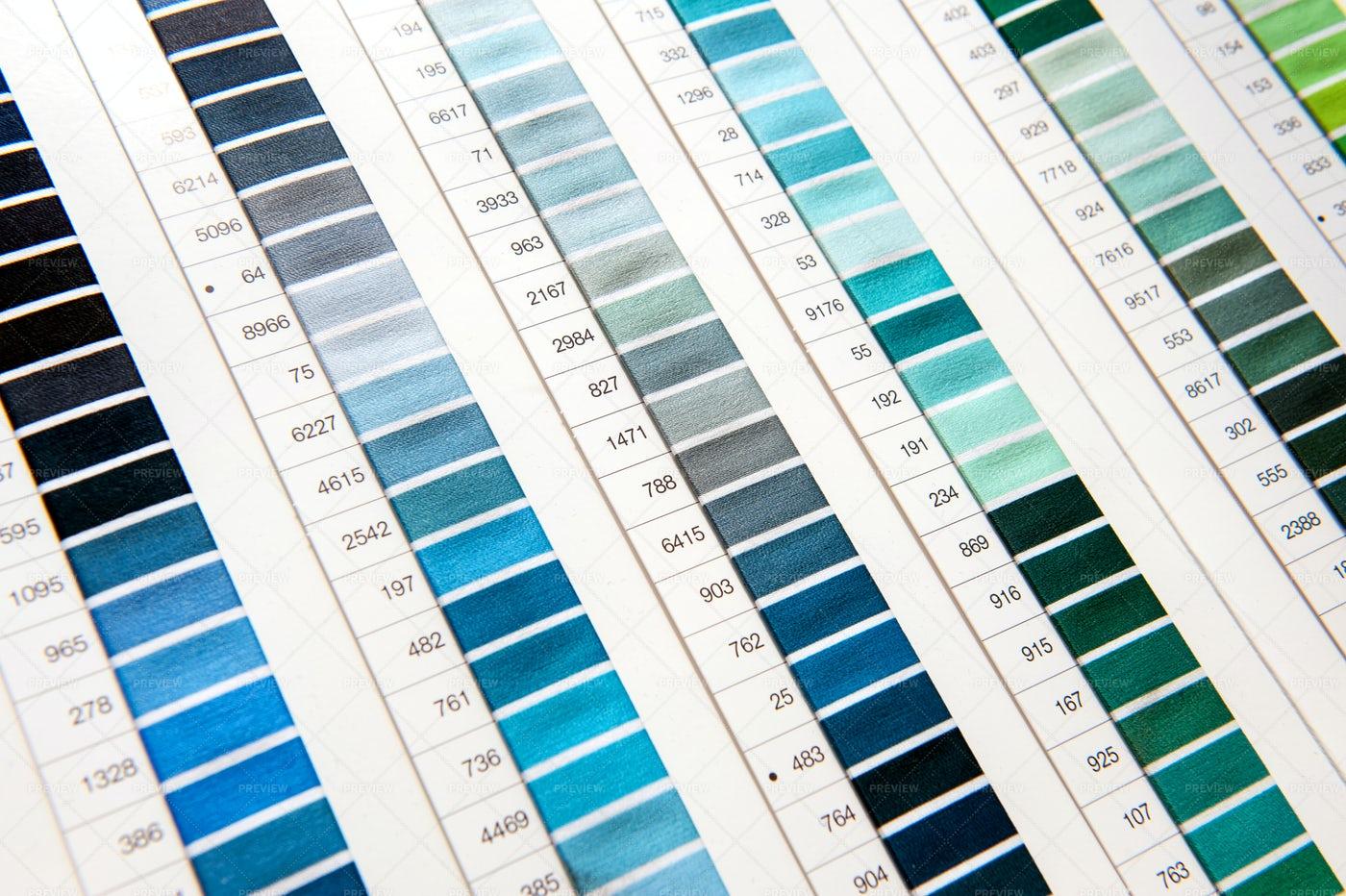 Coloured Fabric Chart: Stock Photos