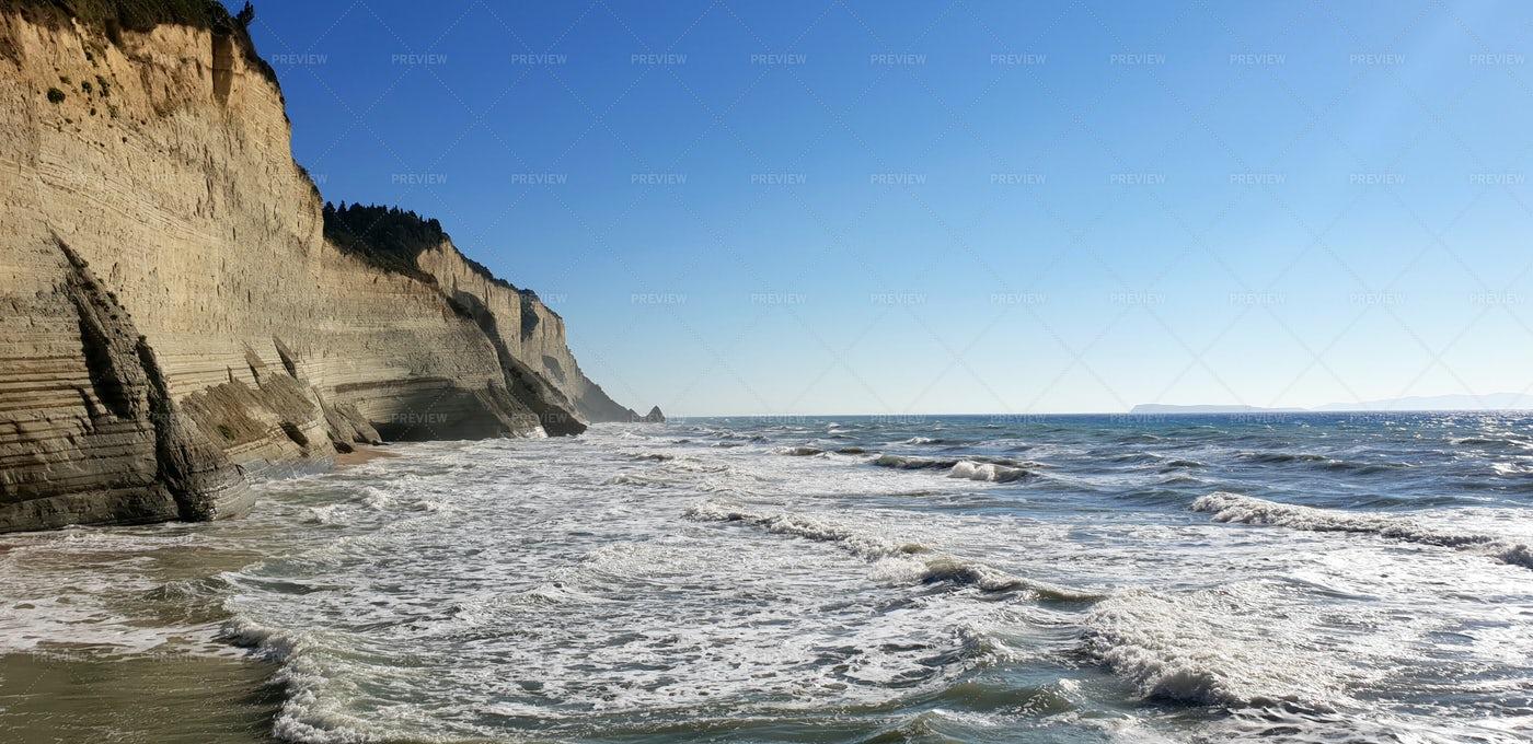 Cliff And Sea: Stock Photos