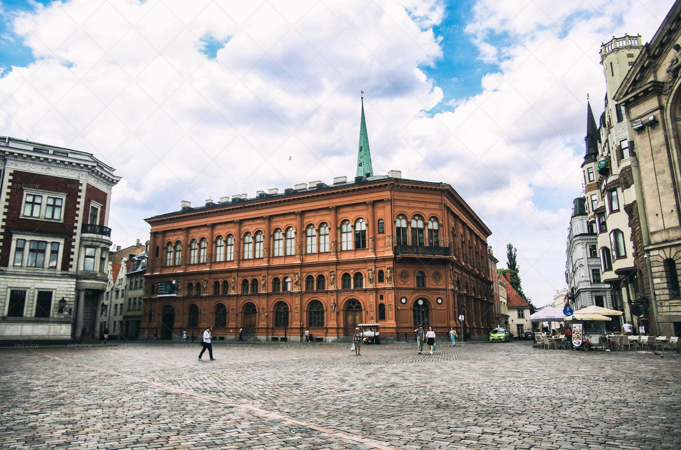 Ancient Buildings In Riga: Stock Photos