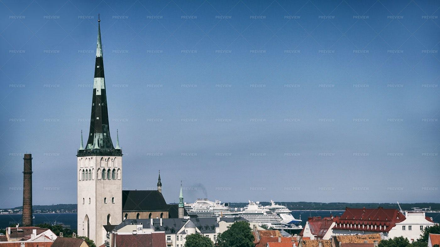 Roofs And Buildings In Tallinn: Stock Photos