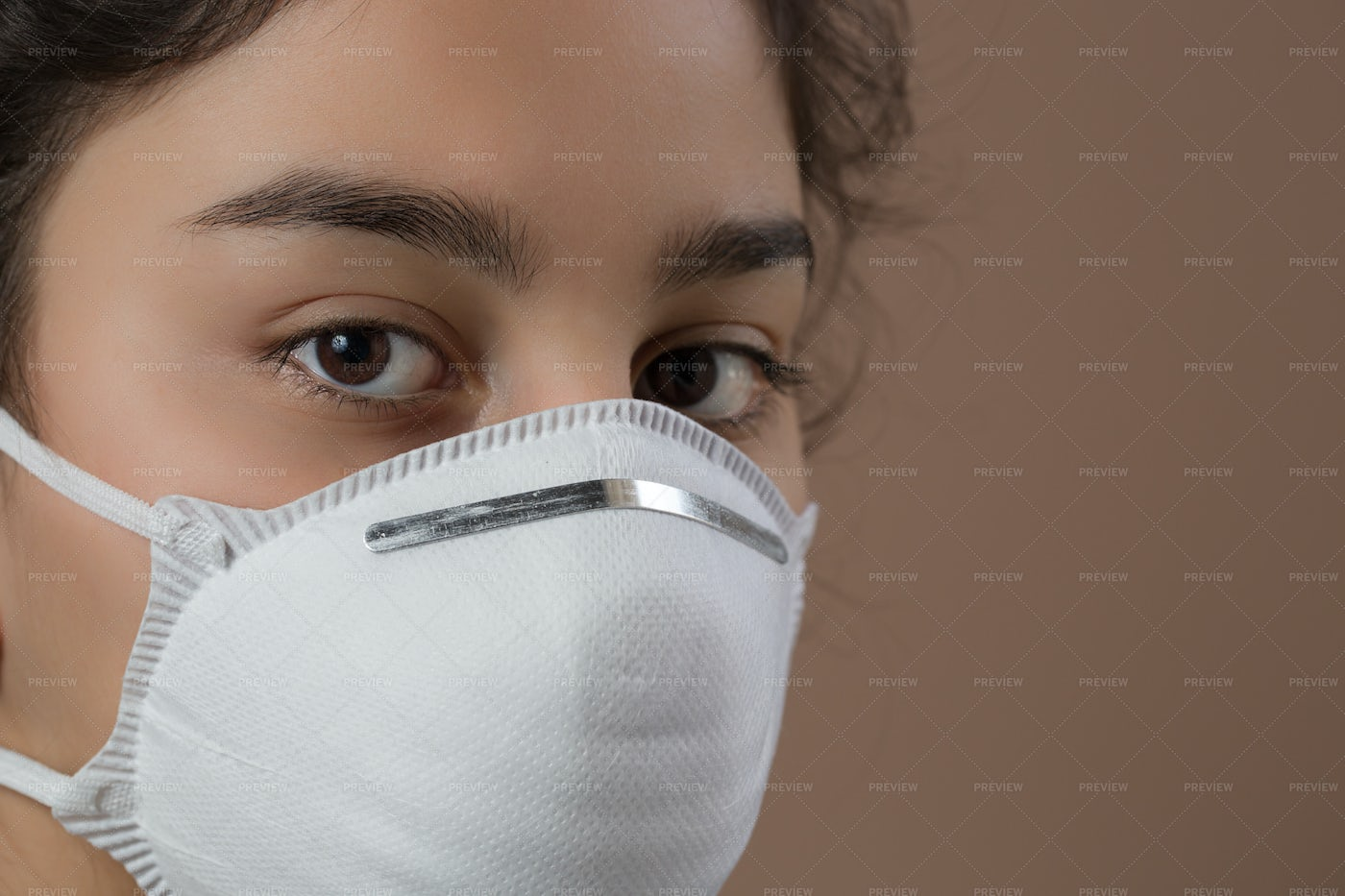 Wearing A Protective Mask: Stock Photos