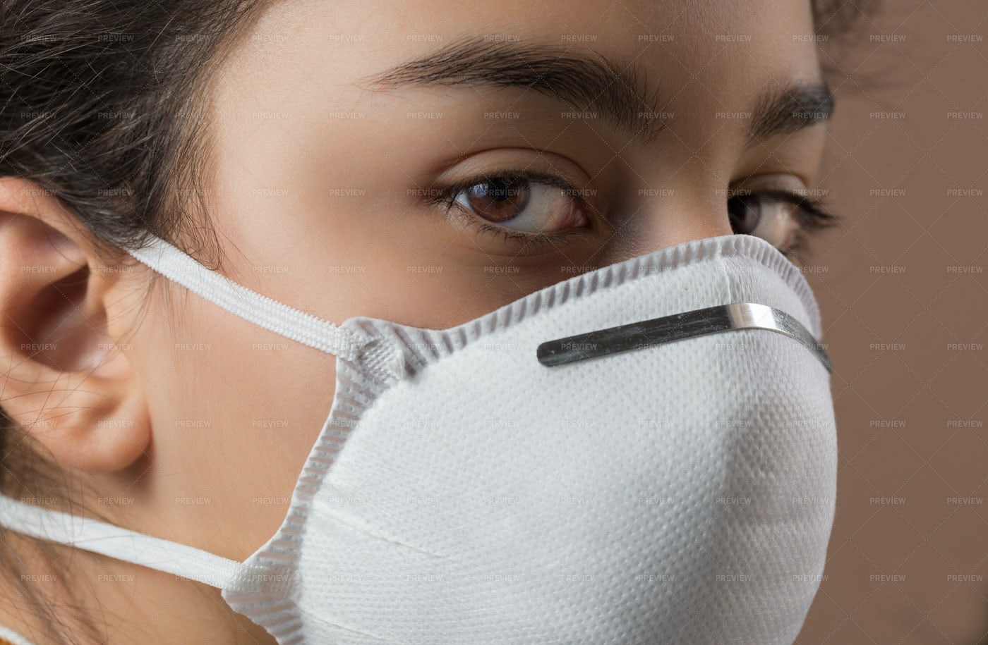 Girl With Protective Mask: Stock Photos