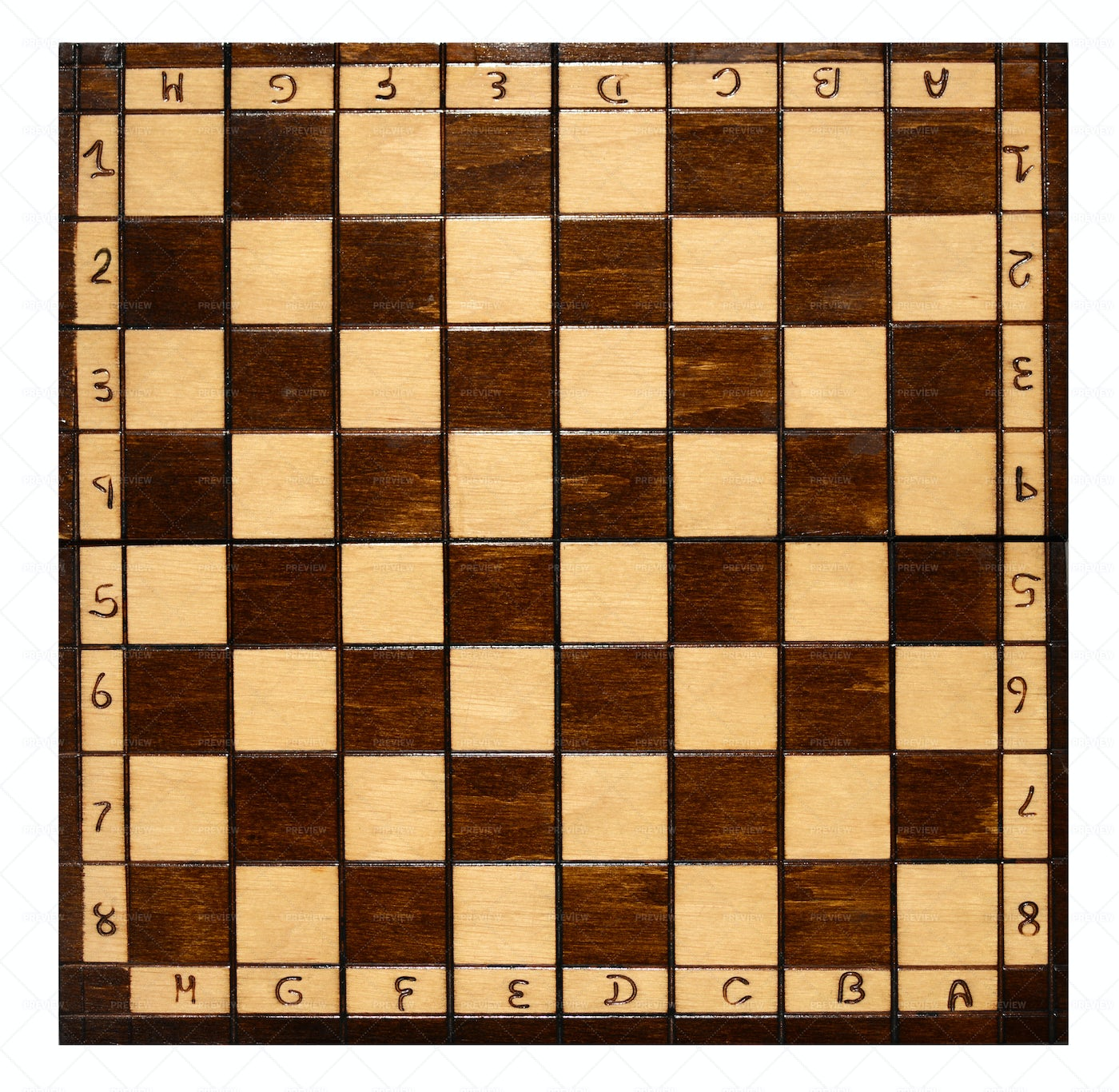 Old Wooden Chess Board: Stock Photos