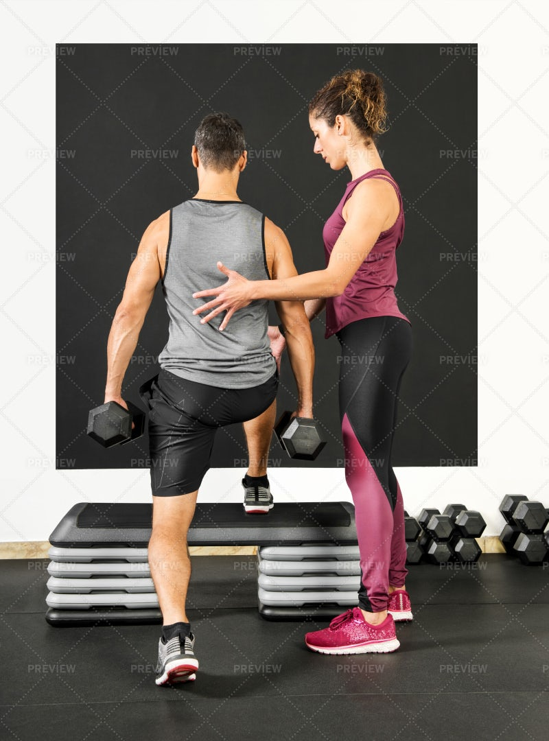 Personal Trainer At Work: Stock Photos