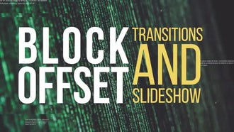 Block Offset Transitions & Slideshow: Premiere Pro Templates