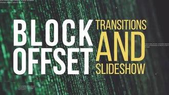 Block Offset Transitions & Slideshow: Premiere Pro Templates