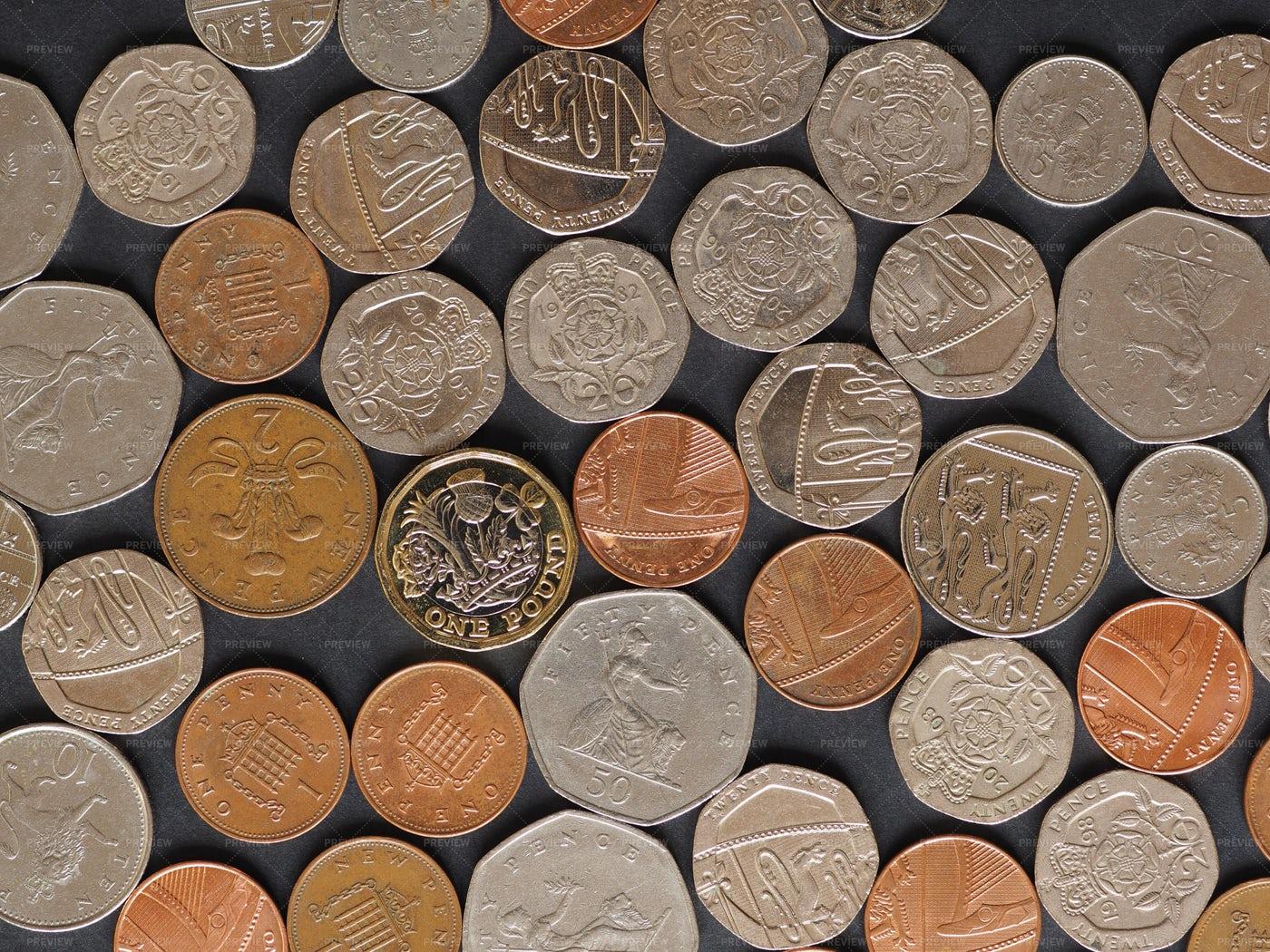 Pounds And Pennies: Stock Photos