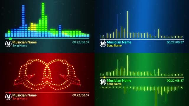 Music Visualizer: After Effects Templates