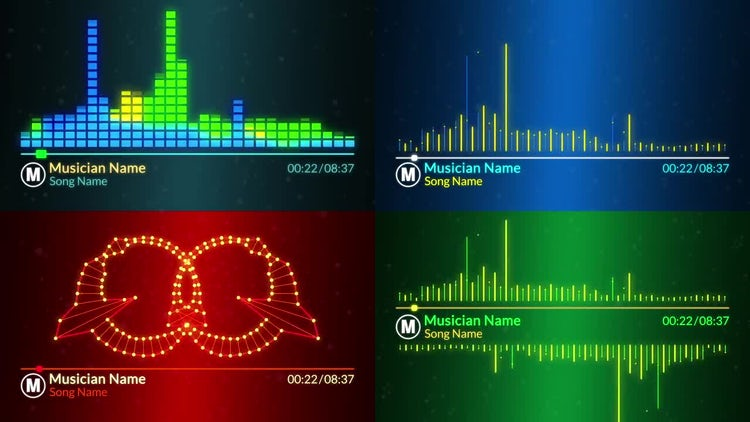 Music Visualizer After Effects Templates Motion Array - After effects list template