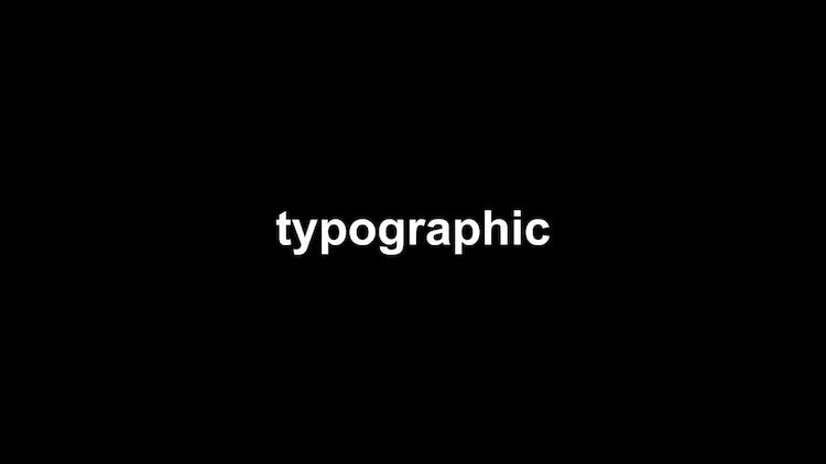 Typographic Intro - Stomp: Premiere Pro Templates