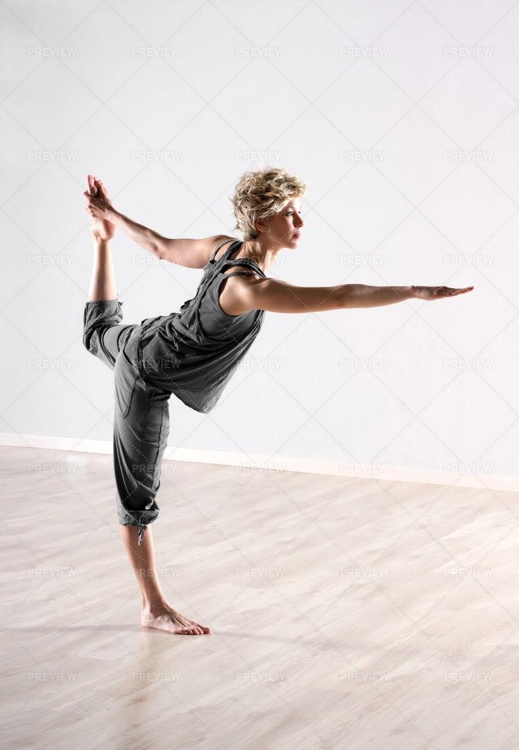 Practicing Body Balance: Stock Photos