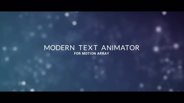 Modern Text Animator: Motion Graphics Templates