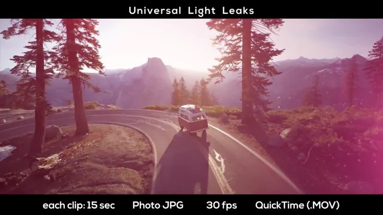 Universal Light Leaks: Stock Motion Graphics
