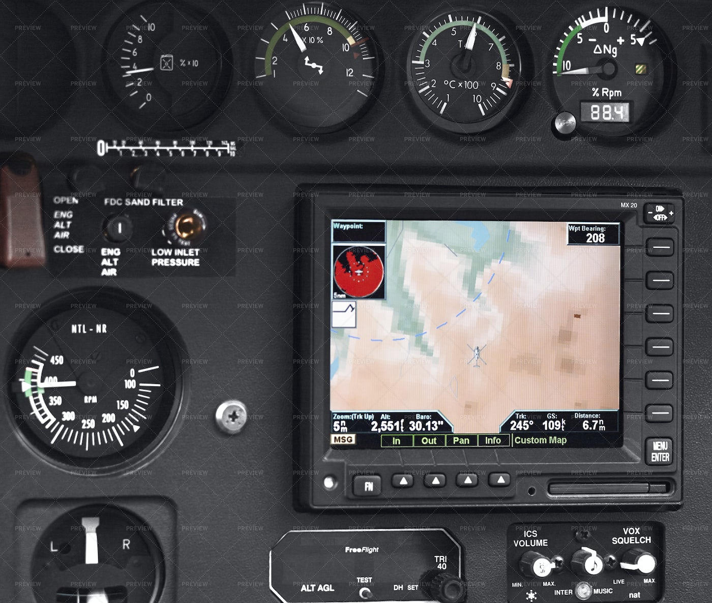 Helicopter Pilot Cockpit: Stock Photos