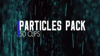 Color Particles Pack. 50 clips.: Stock Video