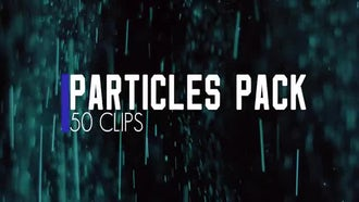 Color Particles Pack. 50 clips.: Stock Footage
