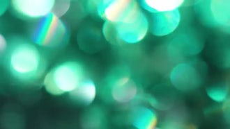 Green Circles Bokeh: Stock Video