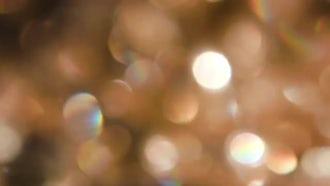 Gold Circles Bokeh: Stock Video