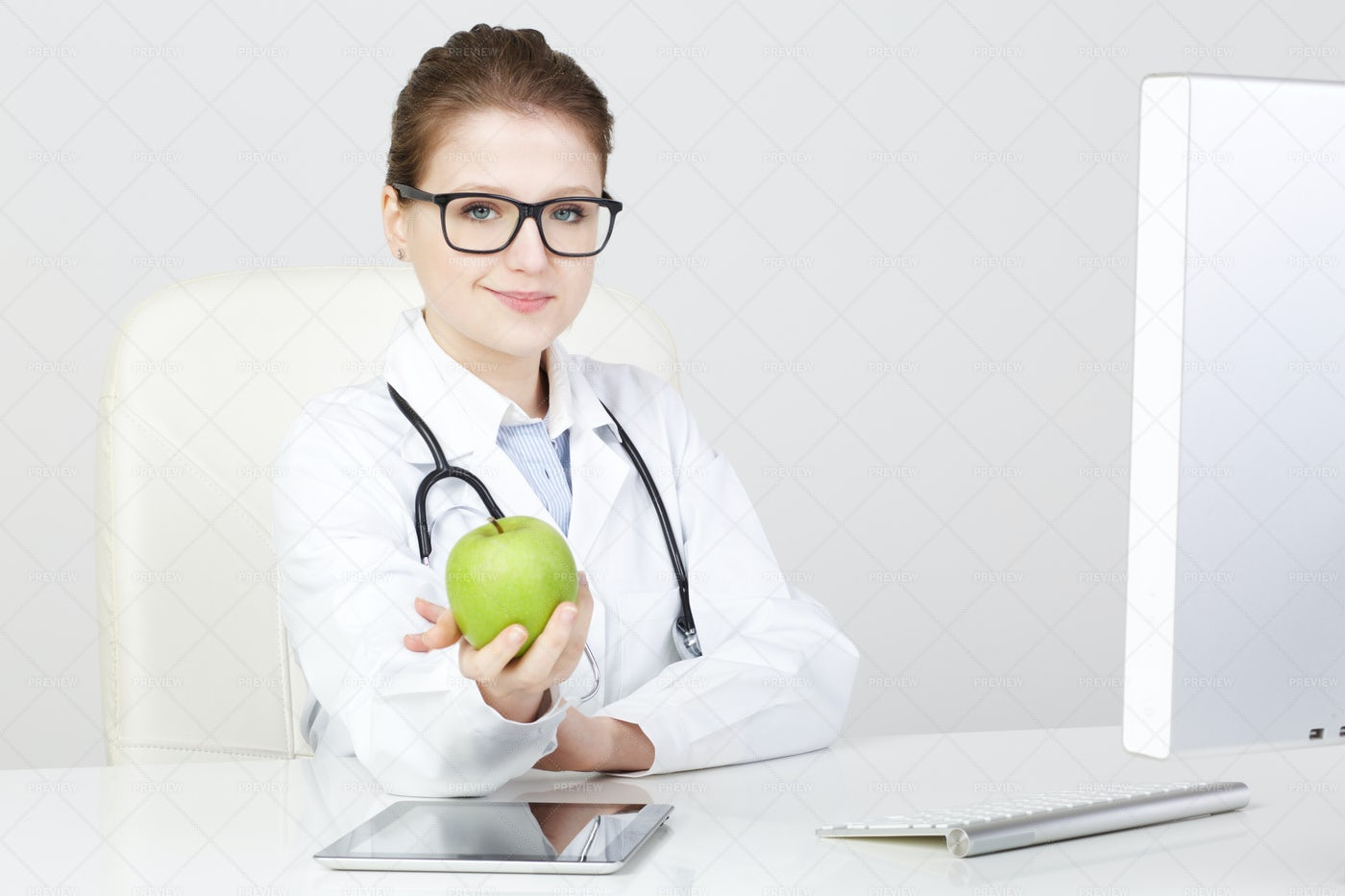 Young Female Nutritionist: Stock Photos