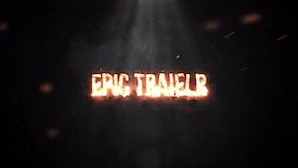 Trailer Fire Fast: After Effects Templates