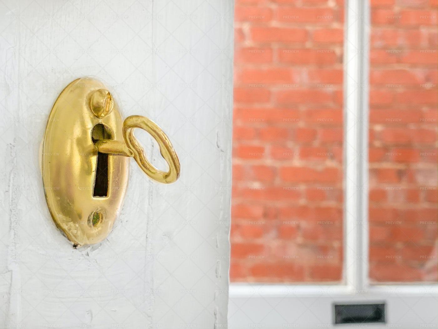 Key In The Door: Stock Photos