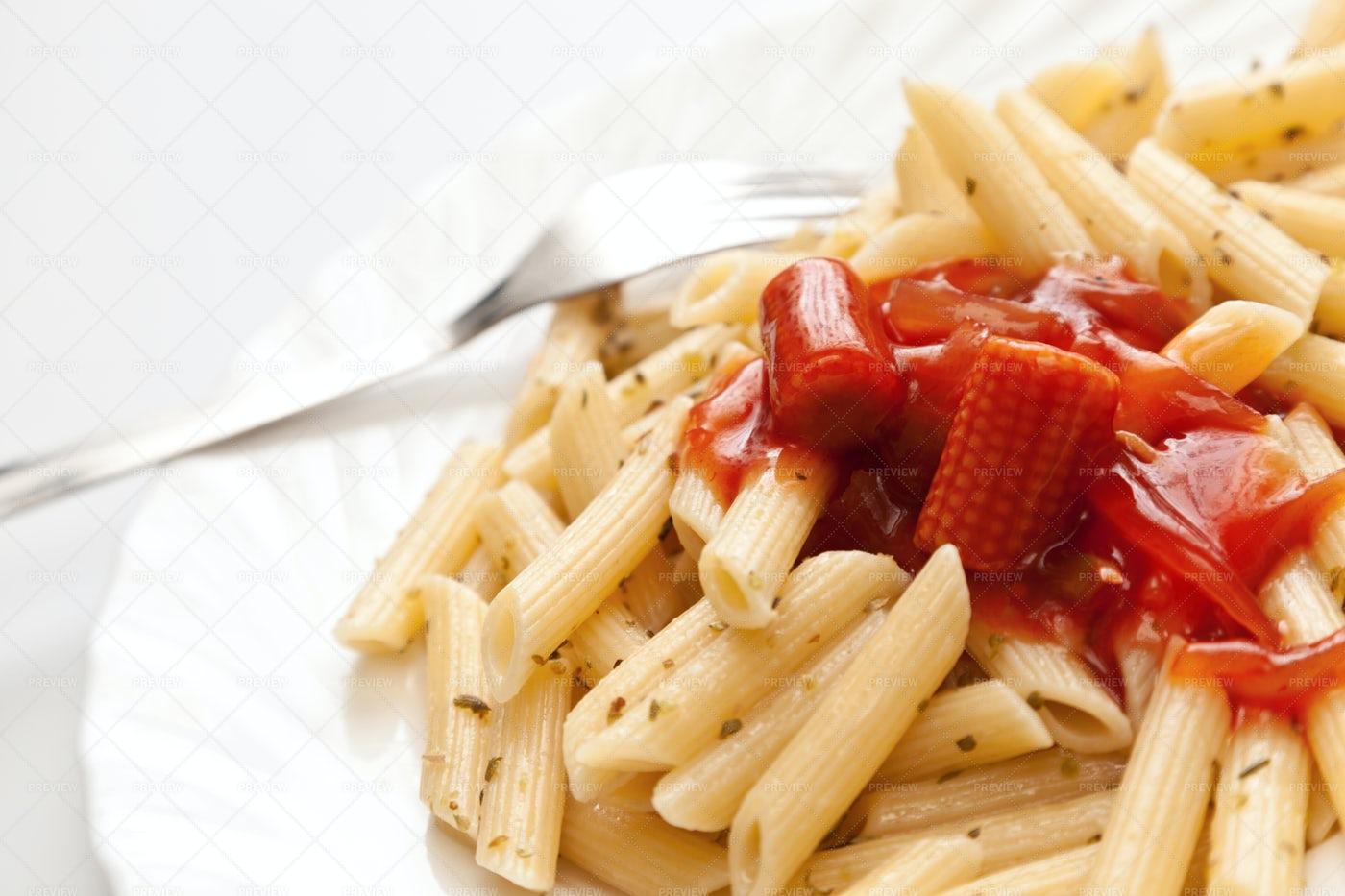 Pasta With Sauce: Stock Photos