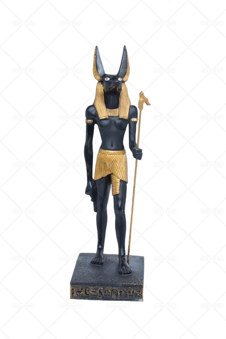 Golden Statue Of Anubis: Stock Photos