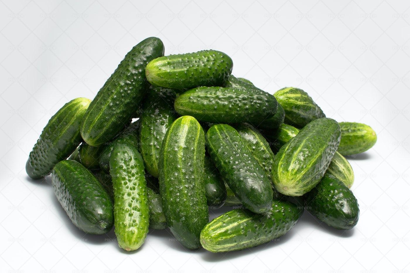Green Cucumbers: Stock Photos
