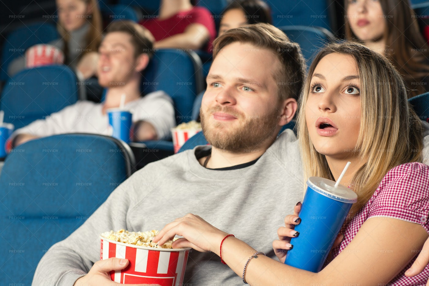 Couple At The Theater: Stock Photos
