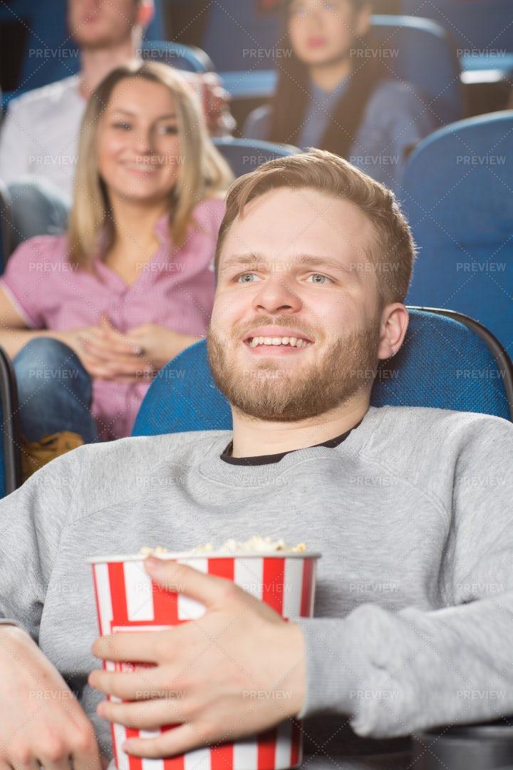 Man At The Movies: Stock Photos