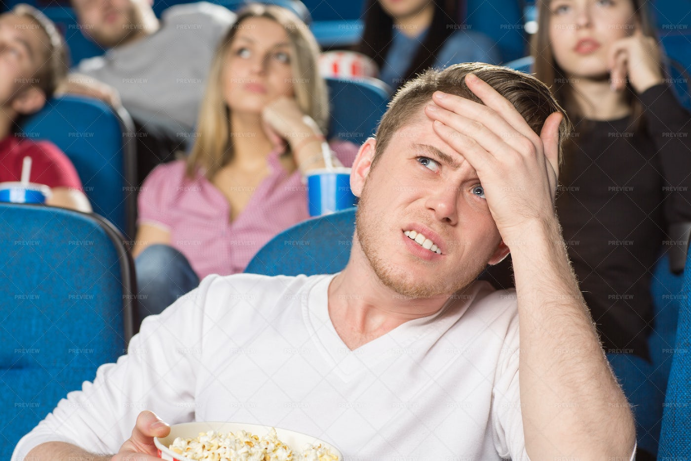 Disbelief At The Theater: Stock Photos