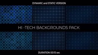 Hi-Tech Backgrounds Pack: Motion Graphics