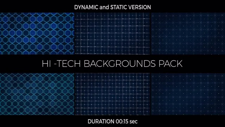 Hi-Tech Backgrounds Pack: Stock Motion Graphics