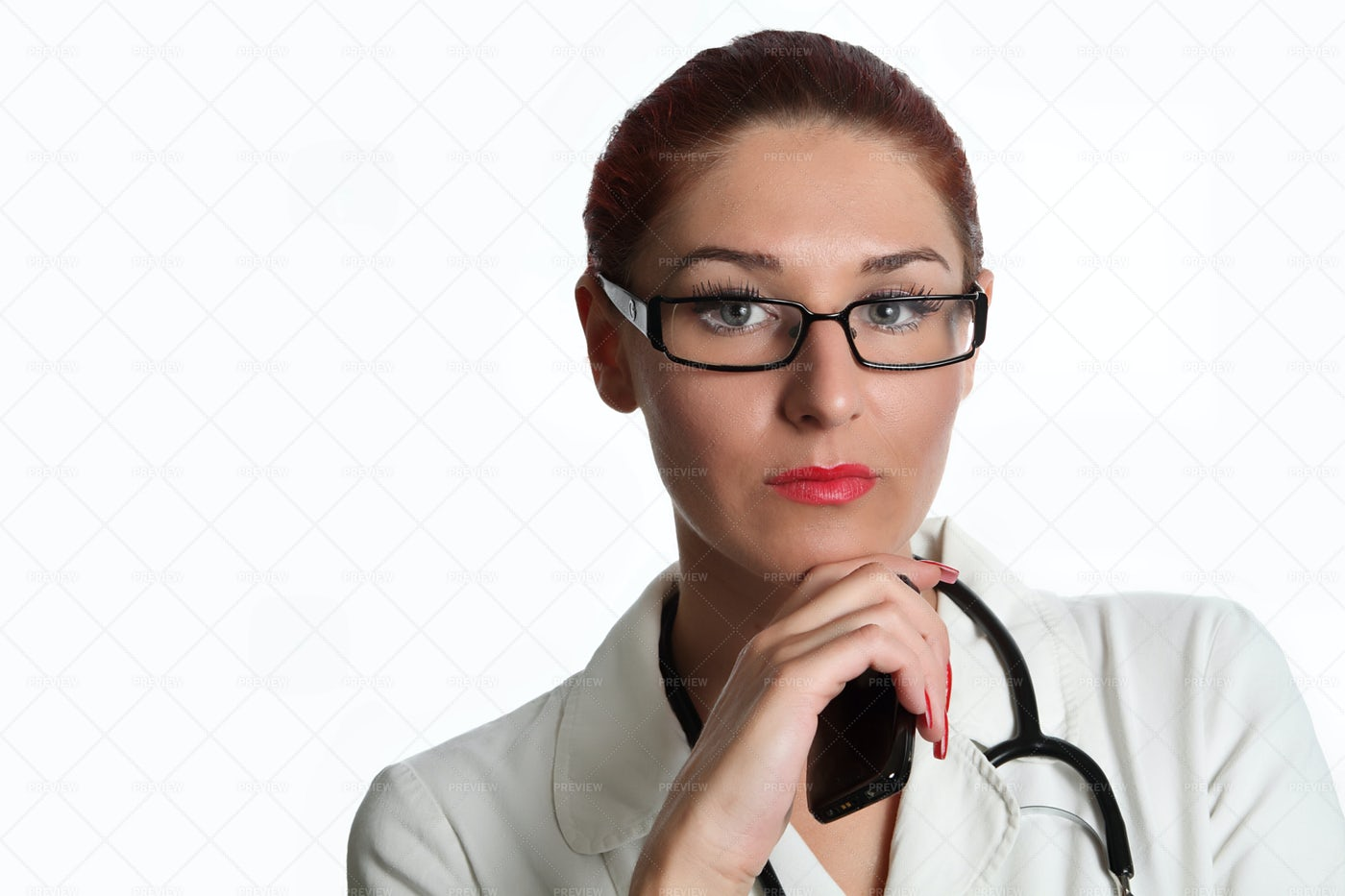 Doctor Holding A Phone: Stock Photos